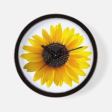 Golden sunflower Wall Clock