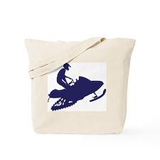 Snowmobiler/navy blue Tote Bag