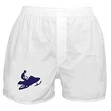 Snowmobiler/navy blue Boxer Shorts