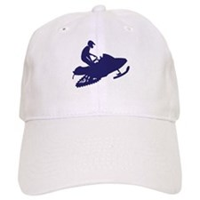 Snowmobiler/navy blue Baseball Cap