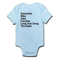 Sixteen Candles Characters Infant Bodysuit