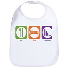 Eat Sleep Statistics Bib