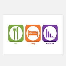 Eat Sleep Statistics Postcards (Package of 8)