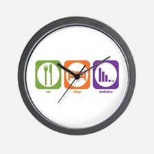 Eat Sleep Statistics Wall Clock