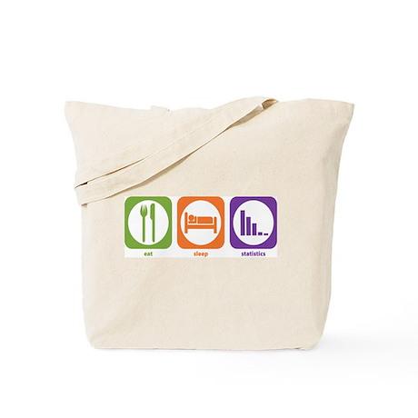 Eat Sleep Statistics Tote Bag