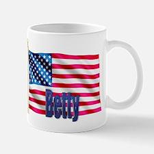 Betty Personalized Patriotic USA Flag Gift Mug