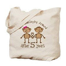 5th Anniversary Love Monkeys Tote Bag