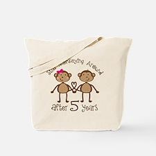 5th Anniversary Love Monkeys Tote Bag