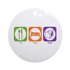 Eat Sleep Study Ornament (Round)
