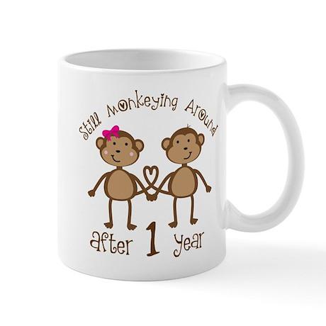 1st Anniversary Love Monkeys Mug