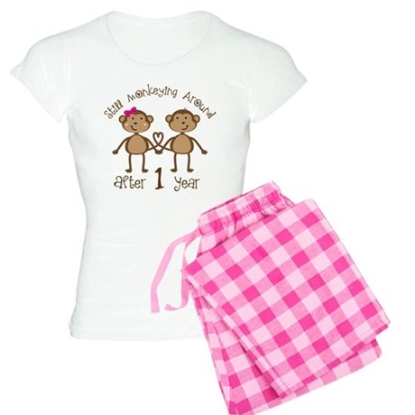 1st Anniversary Love Monkeys Women's Light Pajamas