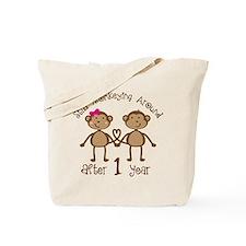 1st Anniversary Love Monkeys Tote Bag