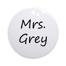 Mrs Fifty Shades of Grey Ornament (Round)