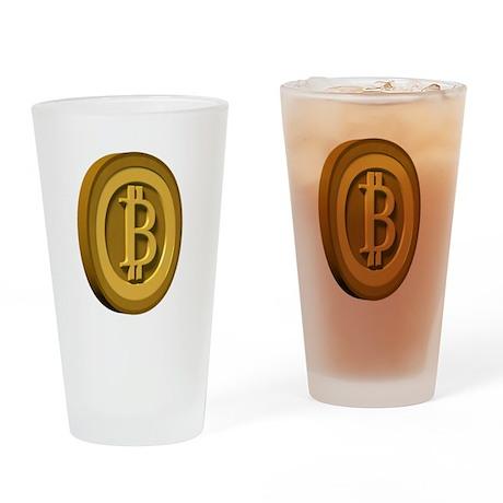 3d Bitcoin Logo Drinking Glass