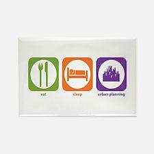 Eat Sleep Urban Rectangle Magnet