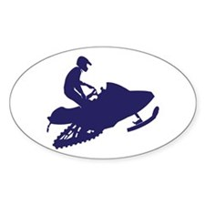 Snowmobiler/navy blue Decal