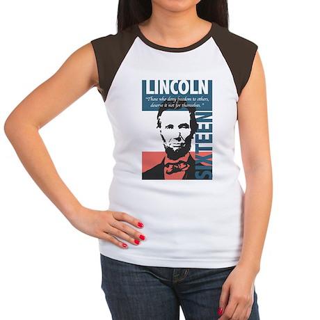 Abraham Lincoln 16th President Women's Cap Sleeve