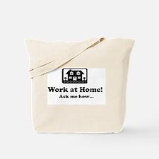 Work at Home Design Tote Bag