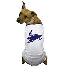Snowmobiler/navy blue Dog T-Shirt
