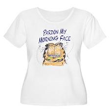 PARDON MY MORNING FACE Women's Plus Size Scoop Nec
