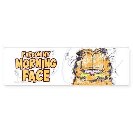 PARDON MY MORNING FACE Sticker (Bumper)