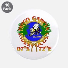 """SEABEES of Diego Garcia 3.5"""" Button (10 pack)"""