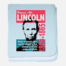 Honest Abe Lincoln President baby blanket