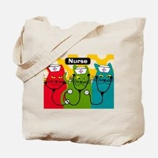Black cats NURSES 3.PNG Tote Bag