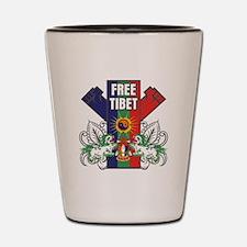 Free Tibet Dual Fists Shot Glass