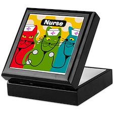 Black cats NURSES 3.PNG Keepsake Box
