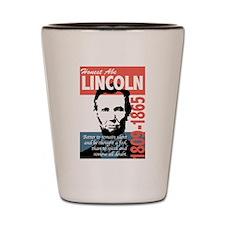 Honest Abe Lincoln President Shot Glass