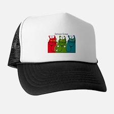Retired Nurse Blanket CATS.PNG Trucker Hat