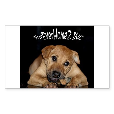 Happy Tails 2 Sticker (Rectangle)