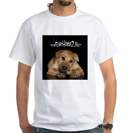 Happy Tails 2 White T-Shirt