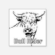 Bull Riding Rectangle Sticker
