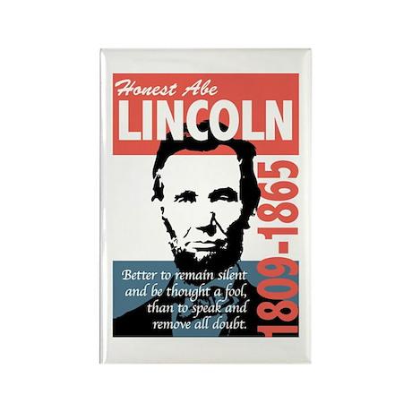 Honest Abe Lincoln President Rectangle Magnet