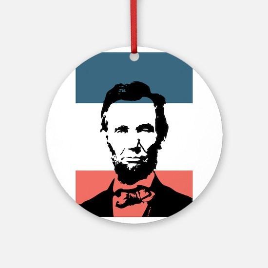 Honest Abe Lincoln President Ornament (Round)