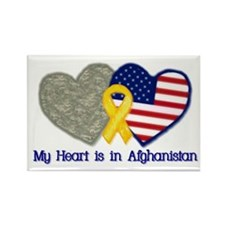 My Heart is in Afghanistan Rectangle Magnet