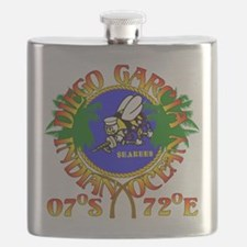 SEABEES of Diego Garcia Flask
