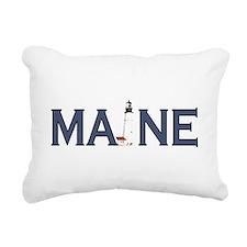 Maine Lighthouse Rectangular Canvas Pillow