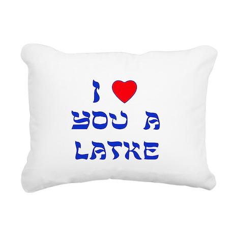 I Love You a Latke Rectangular Canvas Pillow