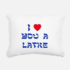 I Love You a Latke Rectangular Canvas Pillow