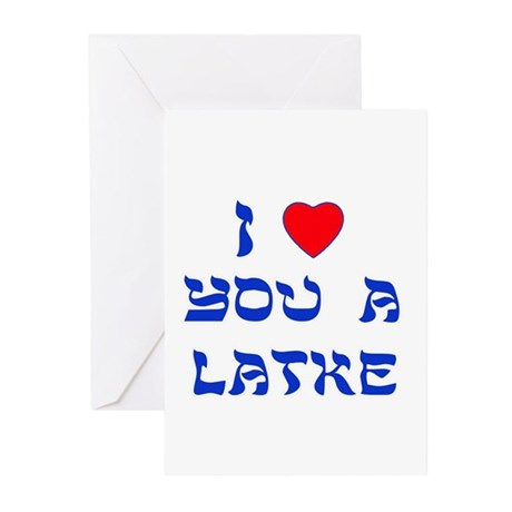 I love you a Latke Greeting Cards (Pk of 20)