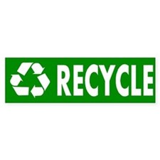 """Recycle"" Bumper Car Sticker"