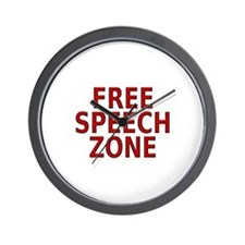 """Free Speech"" Wall Clock"