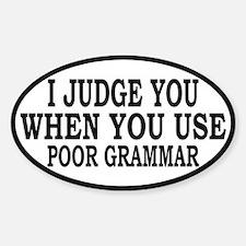 Poor Grammar Decal