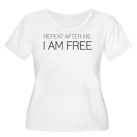 I am free Women's Plus Size Scoop Neck T-Shirt