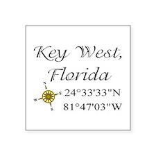 "2-keys.png Square Sticker 3"" x 3"""