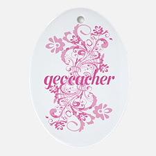 Geocacher Gift Ornament (Oval)