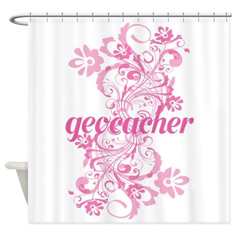 Geocacher Gift Shower Curtain